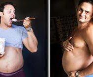 Eşinin Hamilelik Fotoğrafları Çektirmeyi Reddetmesini Protesto Eden Bu Adam Göbeğiyle Kendi Fotoğraflarını Çektirdi
