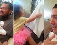 Bu Baba Kendisinin Sakallı Haline Alışan Küçük Kızının Karşına Sakalsız Olarak Çıkar.. Ve Kız Feryadı Koparır