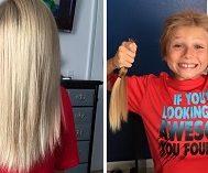 8 Yaşındaki Christian Kanserli Çocuklara Peruk Yapılması İçin Saçlarını Uzatıyor