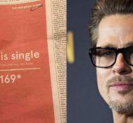 """Norveç Havayolları Yılın Boşanmasının Şaşırtan Reklamını Yaptı """"Brad is Single"""""""